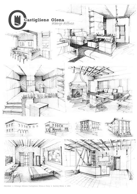 Pin by Gurkut Uysal on Architectural Sketch & Drawing