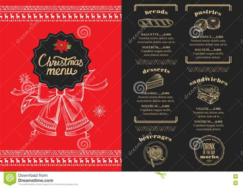 restaurant invitation layout christmas party invitation food menu restaurant stock