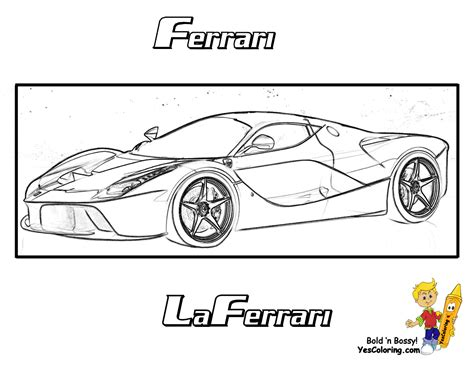 free ferrari coloring pages book for kids boys com free coloring pages of la ferrari