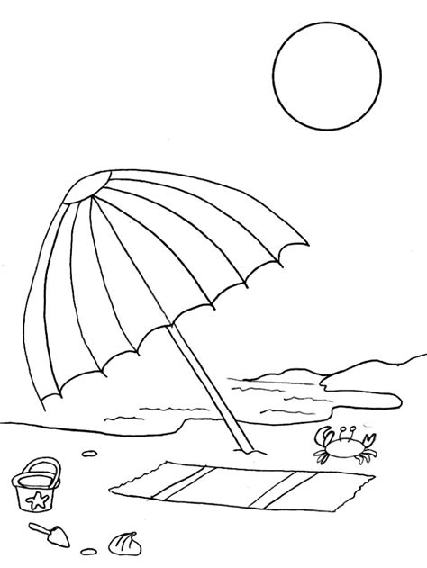 umbrella in beach coloring pages gt gt disney coloring pages