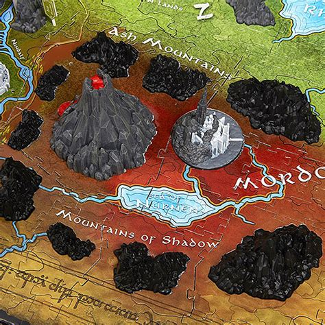the lord of the rings middle earth map lord of the rings map of middle earth 3d puzzle