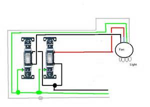 Wiring Ceiling Fan With Two Switches by Wiring Diagram 2 Switches Ceiling Fan Light Kit Ceiling