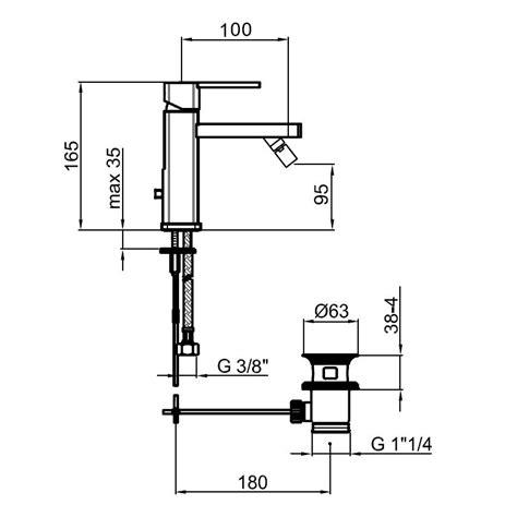 dimension bidet aa840101 bidet mixer dimensions bacera