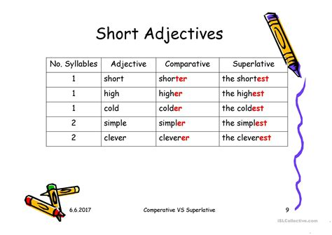 comparative and superlative adjectives worksheet free
