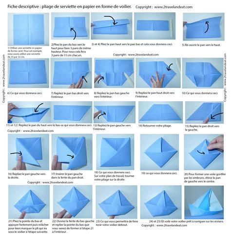 Pliage De Serviette En Bateau by Pliage De Serviette De Table En Forme De Bateau De Voilier