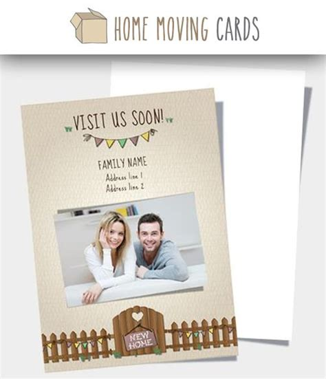 moving home card template 7 best change of address cards templates images on