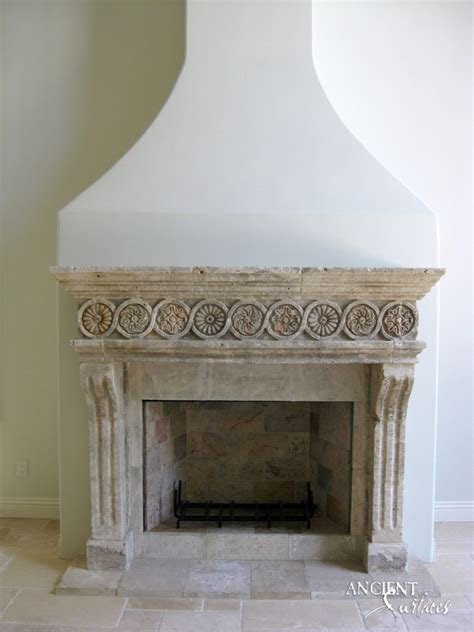 Unique Collection  Antique Stone Fireplace Mantles