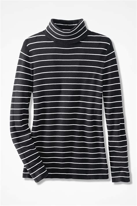 Striped Ribbed Turtleneck striped ribbed turtleneck sweater coldwater creek