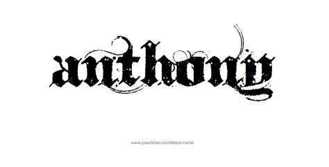 anthony tattoo designs anthony name designs tattoos designs