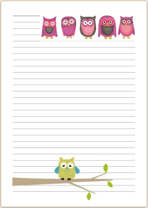pretty paper to write letters on owl letter writing paper a4 or a5 stationary