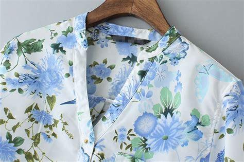 Baju Murah Emily Tunik blouse chiffon bunga chiffon blouse pink