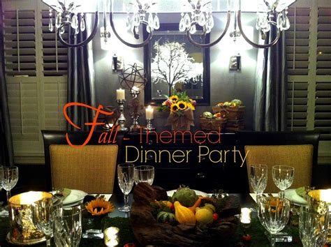 fall themed dinner the luxe lifestyle fall themed dinner