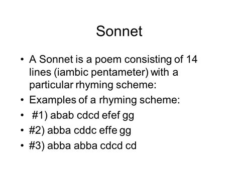 exle of iambic pentameter types of poems ppt