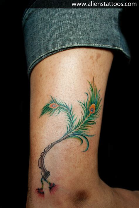 pics for gt krishna flute tattoo designs