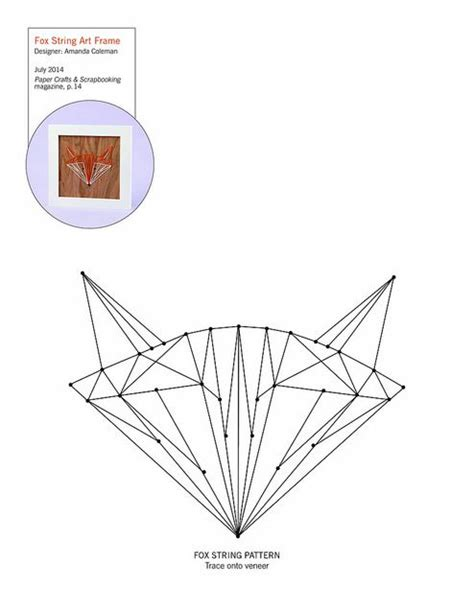 String Templates - fox string pattern patterns for cards card bases