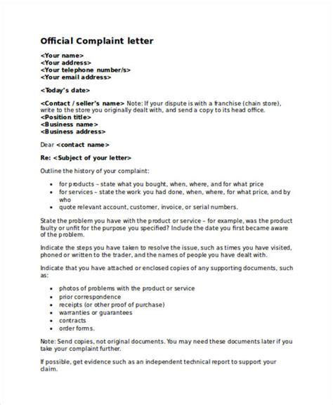 Business Letter Of Complaint Definition 30 Complaint Letter Exles Sles