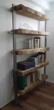 reclaimed wood shelving made reclaimed barn wood and metal shelves