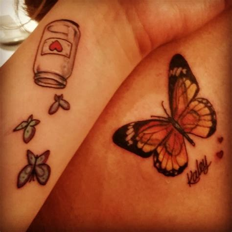 butterfly jar tattoo 60 mother daughter tattoos herinterest com part 2