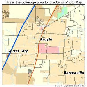 aerial photography map of argyle tx
