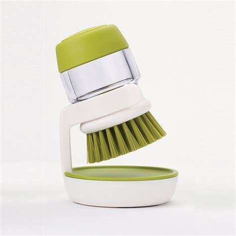Soap Dispensing Palm Brush with Storage Stand   ONLINE