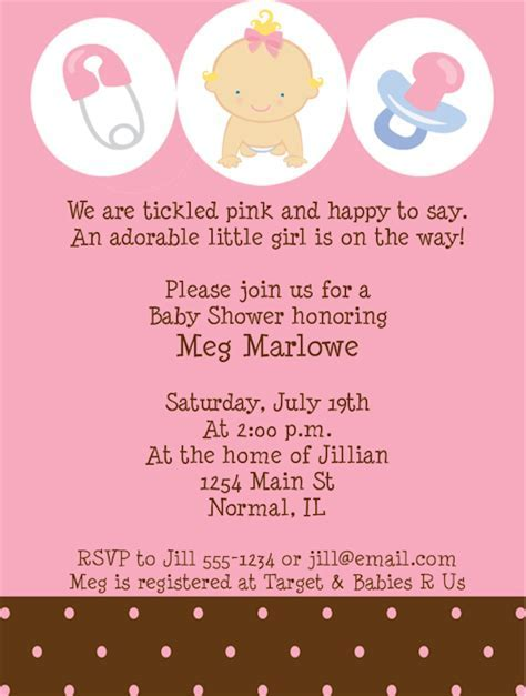 baby shower wording ideas for girl welcome home baby shower invitation wording   Baby Shower DIY