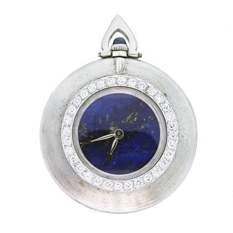 cartier pocket 18k white gold lapis lazuli