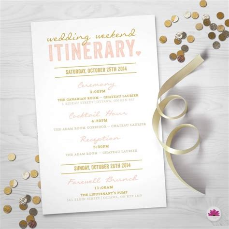 itenary template itenary template inspirational event schedule template wedding weekend itinerary wedding day timeline digital