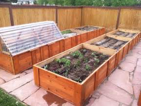 raised garden box designs a raised bed garden with cold frame and drip irrigation