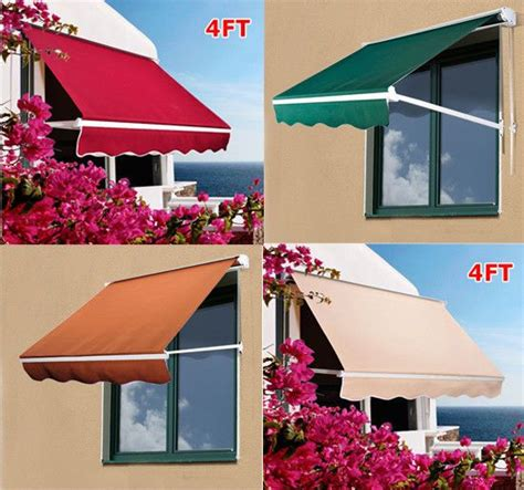 for living manual awning installation details about 4 manual retractable awning sun shade