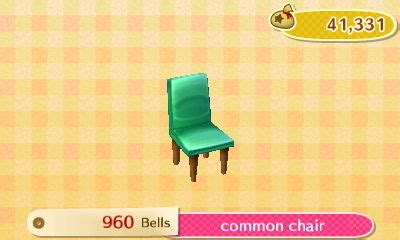 Animal Crossing New Leaf Chairs common chair new leaf hq