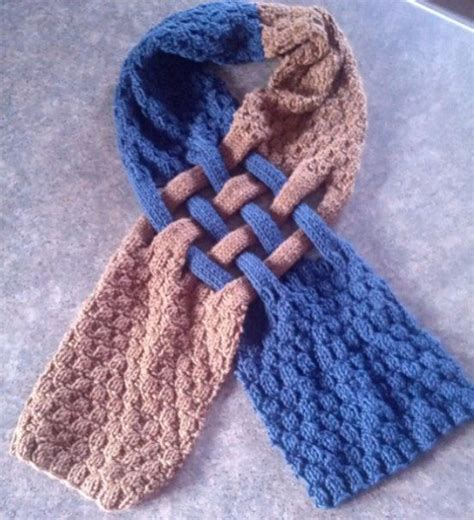 knitting pattern loopy scarf celtic knot loop scarf pattern for knitters