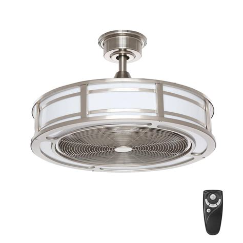 outdoor ceiling fans with led lights home decorators collection brette 23 in led indoor