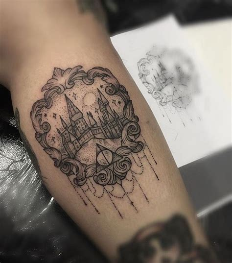 harry potter hogwarts inspired tattoo by medusa lou tattoo