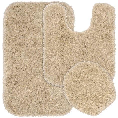 bathroom rugs set 3 piece garland rug serendipity linen 21 in x 34 in washable