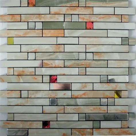 peel and stick glass mosaic tile backsplash adhesive mosaic tiles silver aluminum kitchen