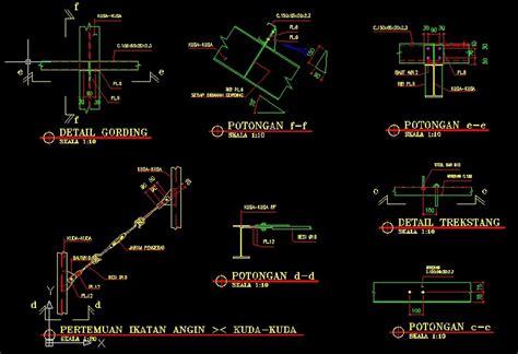 format gambar autocad referensi gambar detail atap baja ringan format dwg file