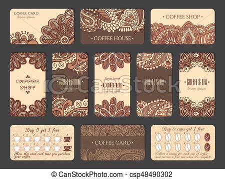 coffee loyalty card template free coffee loyalty cards coffee card design set in indian