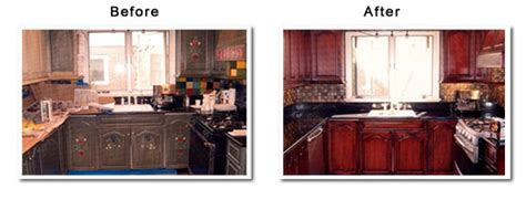 Glazing Kitchen Cabinets Before And After by Kitchen Cabinets Refinishing Glazed Kitchen Cabinets