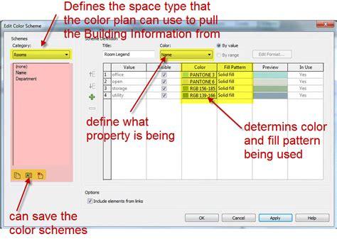 revit tutorial color scheme room area color schemes part 2