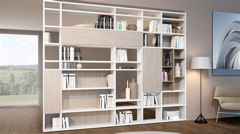 librerie a parete componibili libreria bifacciale componibile systema b sololibrerie