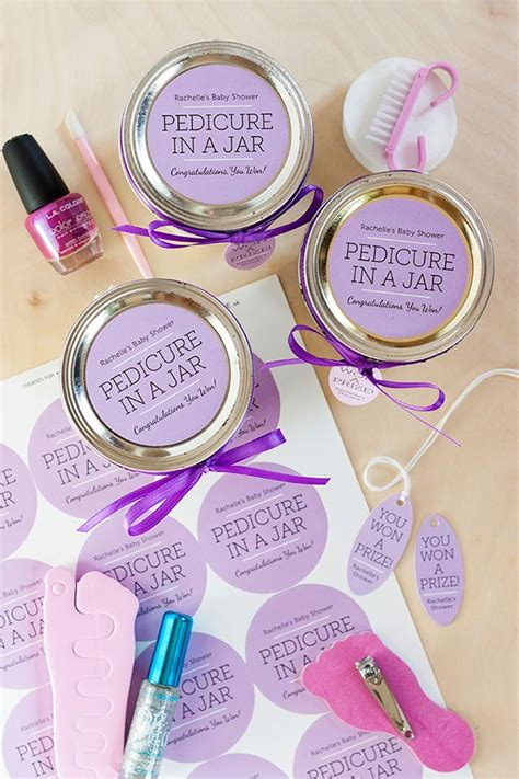 Souvenir Manicure Pedicure pedicure in a jar baby shower prizes shower prizes and