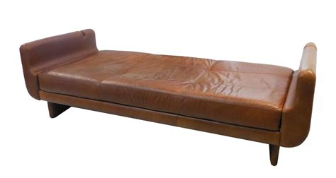 Sofa Daybed Modern by Modern Sculptural Leather Sofa Daybed At 1stdibs