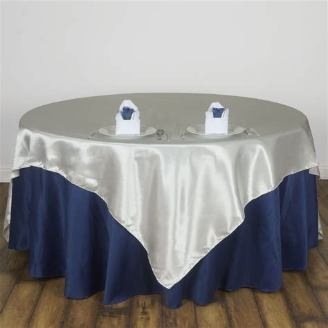 10 pack 72 quot square new satin table overlays linens wedding