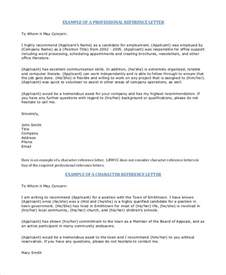 professional reference letter template free professional reference letter 9 free sle exle