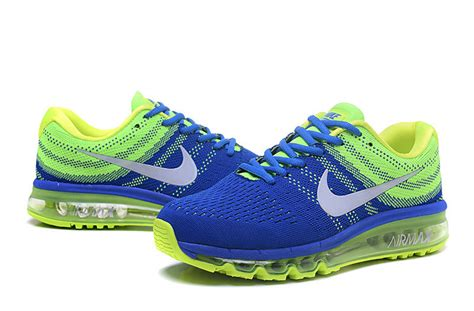 Nike Flyknit Blue Green air max 2017 flyknit blue green silver running shoes