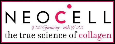 Gift Certificate Giveaway - 50 neocell gift certificate giveaway