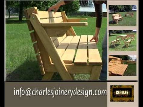 folding picnic bench  table youtube
