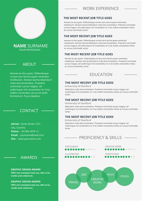 easy infographic template simple infographic resume resume template