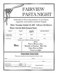 flyer for our pasta night fundraiser pto today
