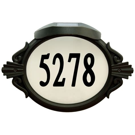 Address Plaques With Light - enviromate products oval aluminum lighted address